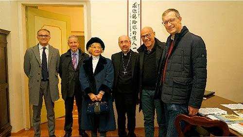 Fondazione Colonna in visita al Vescovo di Macerata